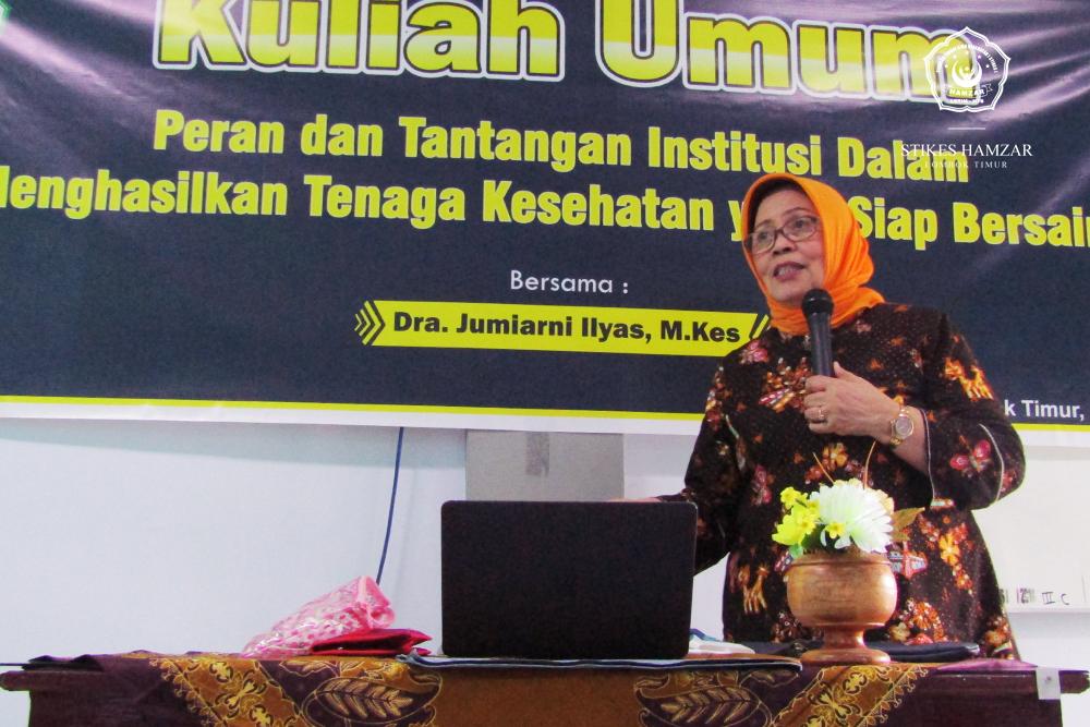 Ketua AIPKIND Pusat Berikan Kuliah Umum di STIKes Hamzar