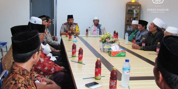 Tokoh Agama dan Masyarakat Beserta Kapolsek Wanasaba dan Kapolres Lombok Timur  Kerjasama Ciptakan Keamanan Bermasyarakat