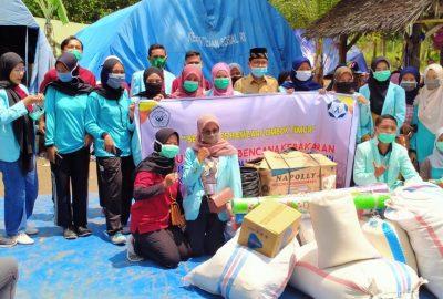 BEM STIKes Hamzar Salurkan Bantuan Kepada Korban Kebakaran Lendang Galuh KLU
